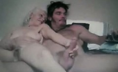 Granny and crazy guy on webcam