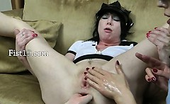 Three incredible hands in prolapsed anal