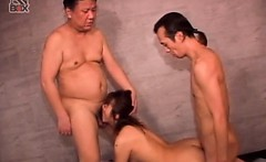 jap sex slave cunt nailed doggie while she sucks dick