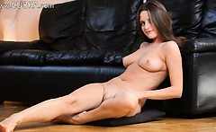 Naked schoolgirl stripping for a camera