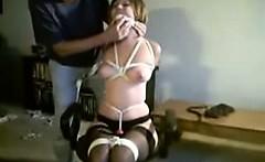 Painful Marathon bondage training my sub