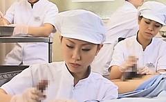 japanese nurse slurping cum out of horny pecker