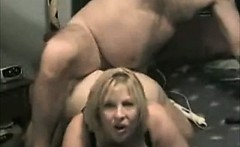 Chubby blonde amateur wife make homemade sex tape
