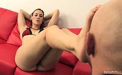 Femdom Foot Slapping by Mistress Jolene
