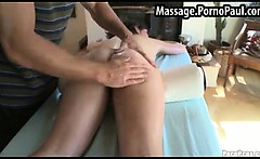 Massage guy gets to see her asshole