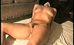 Sexy milf Yvonne naked and oiled