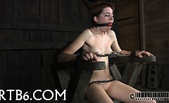 Facial and pussy torture for beautiful hottie