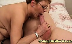 Horny mature couple pounding