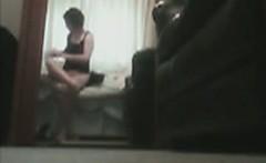voyeuring my hairy Mum in the mirror