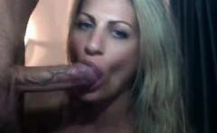 Beautiful Blonde MILF Deep Throating