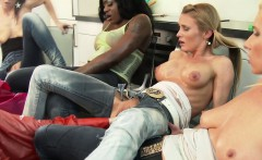 Clothed glam babes pussy fisting