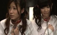 Japanese amateur schoolgirls get punished