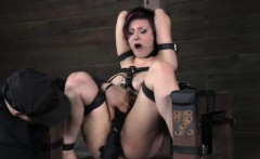 Restrained bounded bdsm sub squirting