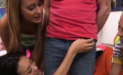 Teen girls decide to measure penis
