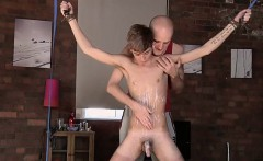 Sexy gay Kieron Knight likes to blow the steaming cum load r