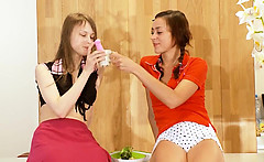 Two russian schoolgirls Natasha and Beata