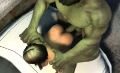 3D babe getting fucked hard by The Incredible Hulk