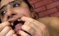 Hot latina gets bent over on the couch and pounded