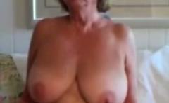 Old fat bbw granny masturbate and does strip