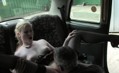 Fake taxi driver fucks blonde outdoors