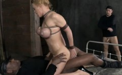 BDSM sub pounded with black cock