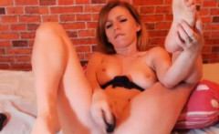 HOT Redhead babe plays her tight pink cunt after spanking