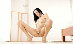 raven haired mia michele takes her time heating up her