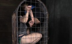 Bondage BDSM Rain DeGrey tied up in box