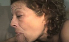 Rail Thin Granny Whore Smoking Cock!