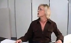 Secretary In Lingerie Getting Fucked