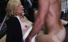 blonde milf fucked and taking facial cumshot in a pawn shop