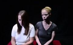Voyeurs watch teen Mormon lesbians lick pussy