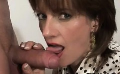 Stockinged Lady Sonia tugs cock