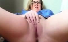 Big Blonde Nerd Masturbating