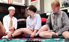 Girls Out West - Hairy lesbian fucked in threesome