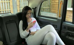 Amateur tattooed customer nailed in the backseat of the cab