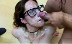 Hot girlfriend doggy creampie