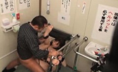 Bound and fucked on Public Toilet 1
