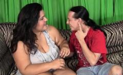 BBW Karla Lane sits on a fat cock
