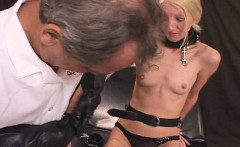 Thin Blonde Submissive Bitch Bondage Sex