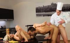 Bisexual threesome cum