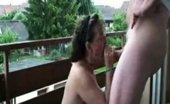 mature lady was horny for a quickie with me on tha balcony
