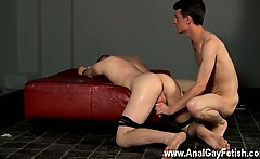 Hardcore gay Fucked And Milked Of A Load