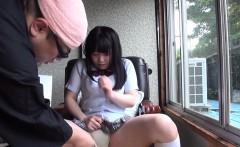 Japanese teen gets jizzed