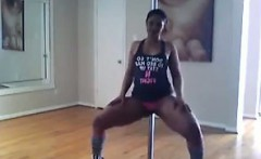 Thick Amateur Girl Dancing Around A Pole