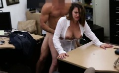 Busty business woman fucked in exchange for a plane ticket