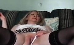 Horny Granny Gets Her Old Pussy Wet