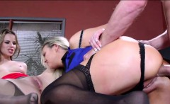 Threesome with stepmom at job interview