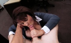 Huge juggs wife sells her pussy at the pawnshop for cash