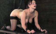 BDSM tt sub anally hooked and ass toyed
